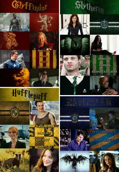 Avengers & company sorted into their respective Hogwarts houses