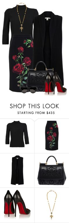 """ff"" by ramina-ermakova ❤ liked on Polyvore featuring Dolce&Gabbana, Belford, Christian Louboutin and Yves Saint Laurent"