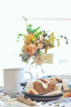 Maple Rhubarb & Rye Skillet Cake