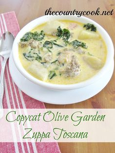 Copycat Olive Garden Zuppa Toscana by The Country Cook, via Flickr
