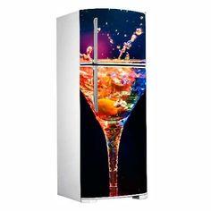Adesivo porta de geladeira - Drink neon