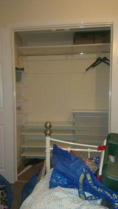DIY built in wardrobe - Ikea Algot