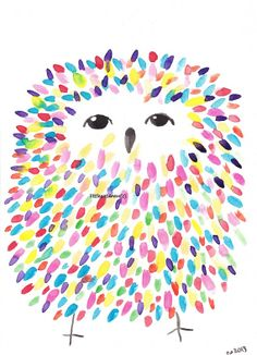 Items similar to Fluffy Owl Watercolor Painting Print Colorful Owl Wall Art Owl Print Owl Gift Bedroom Wall Art Owl Art Wall Decor Unframed on Etsy Painting For Kids, Painting Prints, Art For Kids, Painting Art, Owl Watercolor, Watercolor Paintings, Owl Paintings, Watercolor Illustration, Arte Elemental