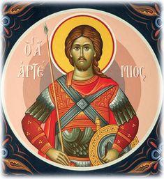 Saint Artemios the Martyr Religious Images, Religious Art, Hellenistic Art, Luke The Evangelist, Byzantine Icons, Orthodox Christianity, Art Icon, Orthodox Icons, Persecution
