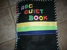 This alphabet quiet book is great - an activity on (almost) every page.