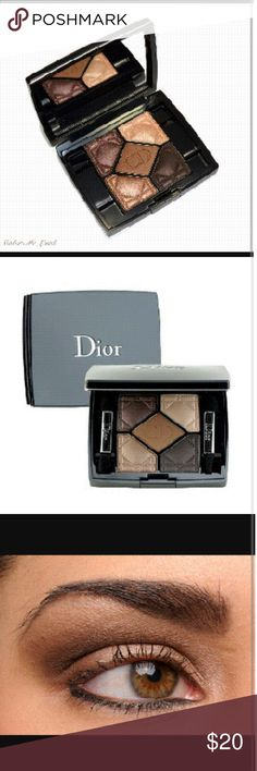 Christian Dior eyeshadow palette Used Christian Dior#796 Cuir Cabbage eyeshadow palette, beautiful colors. I used it a few times but the colors weren't for me :( was purchased at Sephora. Only have one of the eyeshadow brushes unfortunately and the case is a little scratched on the bottom from being in my make up case, but other then that it's in good condition. Christian Dior Makeup Eyeshadow