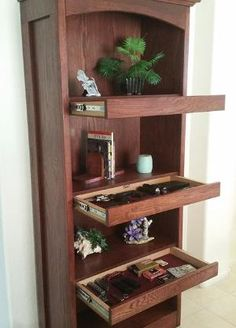 """The """"Bookshelf System' is an innovative way to store; jewelry, firearms, cash, documents, or any valuables in what appears to be an ordinary bookshelf. by adele"""