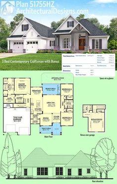 plan 51754hz modern farmhouse plan with bonus room farmhouse