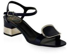 Roger VivierEmbellished leather sandals Gri4l