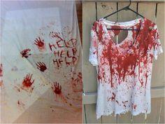 faux sang fait maison- idées de costumes et décor Halloween