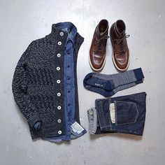 Outfit grid - Cardigan style