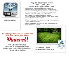 Please Be Sure to add your URL to your Lawn Image Share on Pinterest so we can tweet about you!