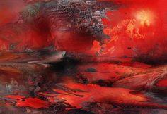 'Imaginary+Landscape+6'+von+Natalia+Rudzina+bei+artflakes.com+als+Poster+oder+Kunstdruck+$16.63