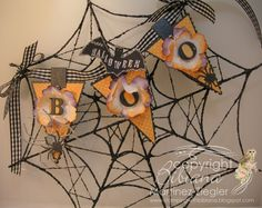 by the Memory Box Design Team Halloween Paper Crafts, Halloween Banner, Halloween Items, Halloween Cards, Holidays Halloween, Spooky Halloween, Fall Crafts, Happy Halloween, Halloween Decorations
