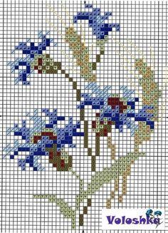 Flower Buds free cross stitch |