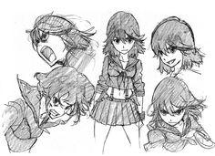 Kill la Kill - Ryuko initial designs by Sushio