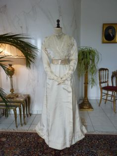 1908-Antique-Wedding-Gown-Antique-bridal-dress-antikes-Kleid-robe-ancienne