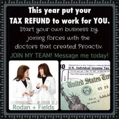 Looking to put your Tax Refund to work for you.  Why not start your own home-based business with one of the fastest growing companies in the US and soon to be going International.  For more info email me at hrstein31@gmail.com