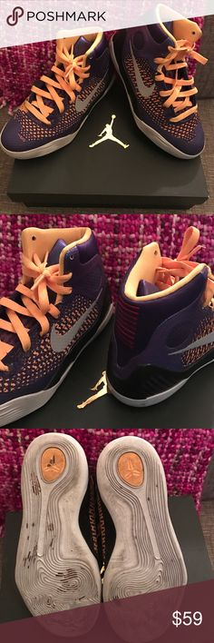 Kobe Youth NIKE mid tops - Sz 3.5 Youth Super cool! light wear on bottom - Great looking! Nike Shoes Athletic Shoes