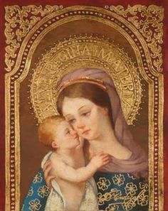 Featured pieces from Diana Mendoza, Sorelle Gallery, Albany, NY Virgin Mary Art, Christian Artwork, Blessed Mother Mary, Hail Mary, Madonna And Child, Art Icon, Sacred Art, Art Studies, Religious Art