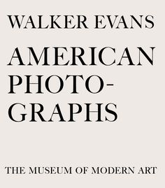 Walker Evans: American Photographs  #photography #book #libri http://www.amazon.it/gp/product/087070835X/ref=as_li_ss_tl?ie=UTF8&camp=3370&creative=24114&creativeASIN=087070835X&linkCode=as2&tag=lauboc-21
