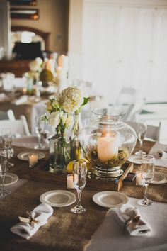 An oh-so-adorable rustic tablescape.