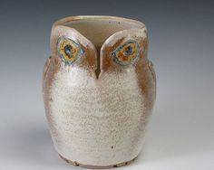 Owl Yarn Holder. @caleb stern needs to make one of these