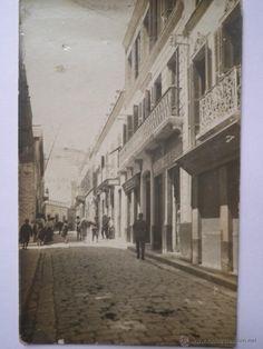 POSTAL FOTOGRAFICA DE TETUAN - CALLE DE LA LUNETA - EDICION MARTINEZ Y SANZ (Postales - España - Ceuta Antigua (hasta 1939)) Street View, Street, Antigua