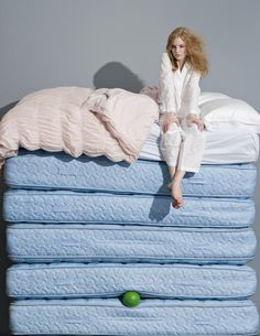 Good article on Hyper Sensitive Personalities.  Image: Lady sleeping on 5 mattresses w/ a