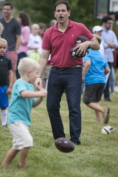 Watch Marco Rubio Hit A Kid In The Head With A Football Fortunate Son, Ted, Sons, Football, Watch, Couple Photos, People, Soccer, Couple Shots