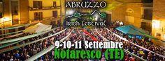 Abruzzo Irish Festival 2016 a Notaresco dal 9 all11 settembre 2016