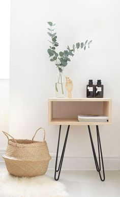 home decor diy DIY mid century nightstand made by Burkatron with our Skurniture Legs Diy Home Decor On A Budget, Diy Home Decor Projects, Easy Home Decor, Cheap Home Decor, Decor Ideas, Decor Diy, Wall Decor, Diy Ikea Hacks, Decoration Ikea