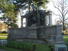 Memorial to the engineers who died in Titanic April 15, 1912.