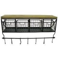 Coffee bar basket shelf