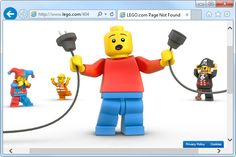 The 20 Best 404 Error Pages Ever: LEGO's Unplugged 404 Error Page