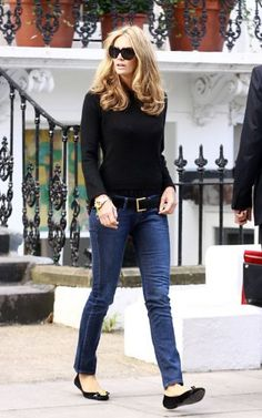 a8010c17f2f28a ... Flat Sandals - Elle MacPherson Looks - StyleBistro. See more. Elle  Macpherson Style Fall Outfits For Work