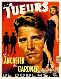 Belgium poster for The Killers with Burt Lancaster and Ava Gardner