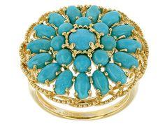 Tehya Oyama Turquoise(Tm) Oval And Round Sleeping Beauty Turquoise 18k
