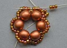 "Beaded Treasury: Free Tutorial: ""Flower Tale"" earrings"