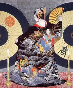 Shimabara Tayuu,in the kasa-no-ma(the room of umbrella of Wachigaiya,located in Shimabara,Kyoto Artist:Morita Rieko Japanese Art Prints, Japanese Artwork, Japanese Painting, Art Et Design, Geisha Art, Art Asiatique, Traditional Japanese Art, Art Japonais, Samurai Art