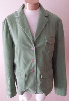Lands End Green Corduroy Jacket Blazer Womens Sz 18 #LandsEnd #Blazer