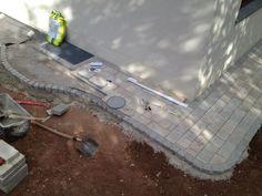 Runde Kante für den Pflasterweg mit Granitstein