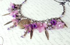 Fairy Necklace Lucite Flower Locket Necklace - product image