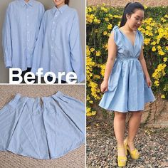 The skirt was made out of 4 SHIRT SLEEVES! Go watch the new episode of #thriftedtransformations where I transformed two shirts into 2 new items of clothing (second creation is not pictured). This was a collab with my fave sewing TWINS  @q2han so make sure to check out their channel to see how they deconstructed their shirt!  #coolirpa #recycled #savers #sewing