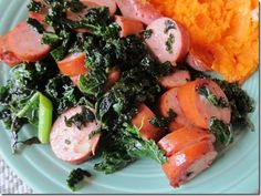 kale and sausage...yum! Quick and easy meal.