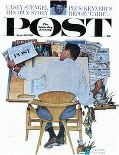 Artist at Work September 16, 1961, Norman Rockwell, The Saturday Evening Post.