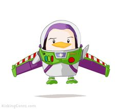 Buzz Lightyear Penguin—through your computer screen and beyond! Penguin Life, Penguin Party, Penguin Illustration, Kawaii Stuff, Cute Penguins, 3rd Baby, Buzz Lightyear, I Am Awesome, Cute Animals