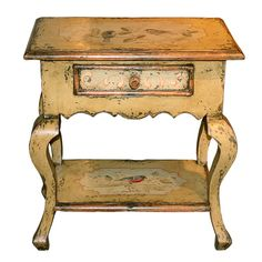 *Petite Painted French Country Cabriole Table | BelleEscape.com