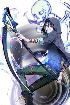 Summons the dead ( Shimo) Anime Character Drawing, Boy Character, Fantasy Character Design, Character Concept, Concept Art, Anime Scythe, Anime Demon, Manga Anime, Anime Art