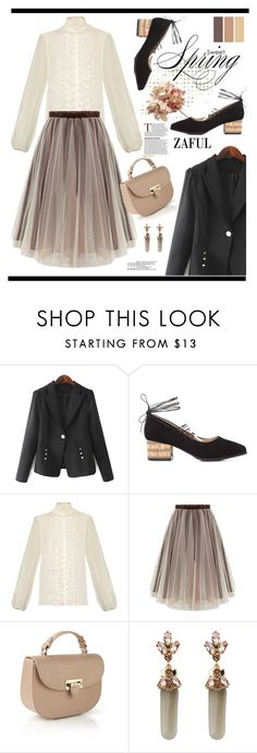 """""""Zaful.com: Sweet Spring!"""" by hamaly ❤ liked on Polyvore featuring Dolce&Gabbana, Aspinal of London and Green Girls"""